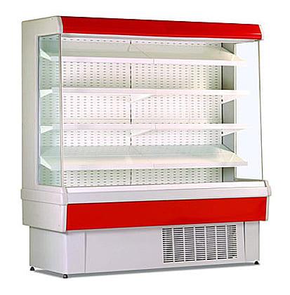 Холодильная горка в аренду Гольфстрим 120 ПВС пристенная, температурный режим от 0...+7C, гастрономическая, ширина 1300 мм