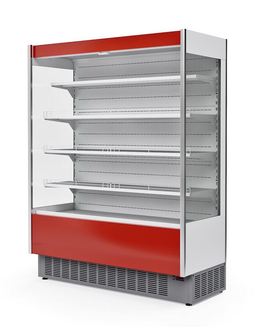 Пристенная холодильная витрина горка в аренду МХМ 1.2 Cube, температурный режим +1 +10 градусов, гастрономическая, компактная