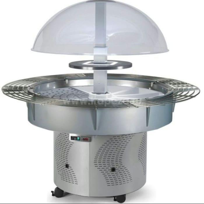 Круглая купольная холодильная витрина в аренду Scaiola с полками по кругу, среднетемпературный режим от +3...+10C градусов