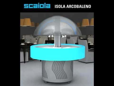 Аренда купольной круглой витрины Scaiola с LED корпусом, среднетемпературный режим от +3...+10C градусов