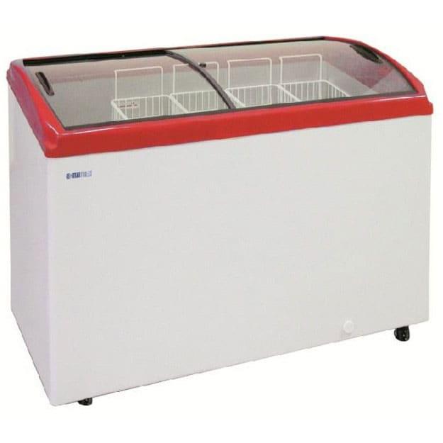 Морозильный ларь в аренду 300 литров, температурный режим -18C градусов, гнутое стекло CF300C (морозильная камера)