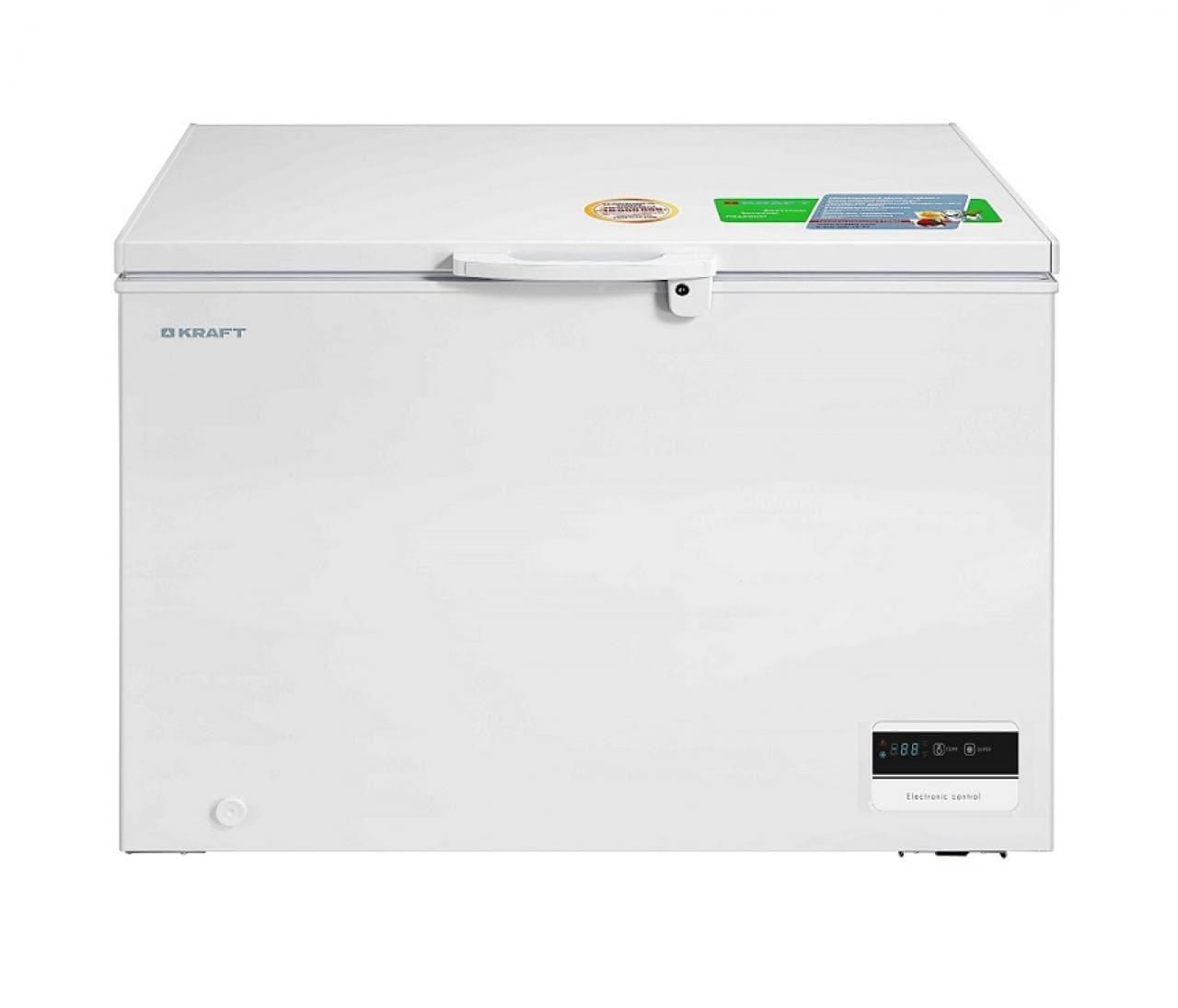 Морозильный ларь в аренду 325 л Kraft, температурный режим -18...-20C градусов, белый, глухая крышка