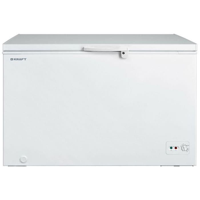 Морозильный ларь в аренду 430 л Kraft, температурный режим -18C...-20C градусов, белый, глухая крышка