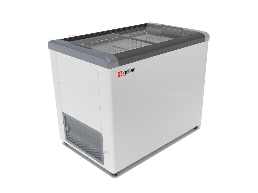 Морозильный ларь в аренду GELLAR 350, температурный режим -18 градусов, прямое стекло (морозильная камера)