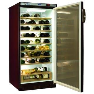 Винный холодильник в аренду Pozis 250 л, 65 бутылок, 2 зоны охлаждения, для красного и белого вина, полки из дуба