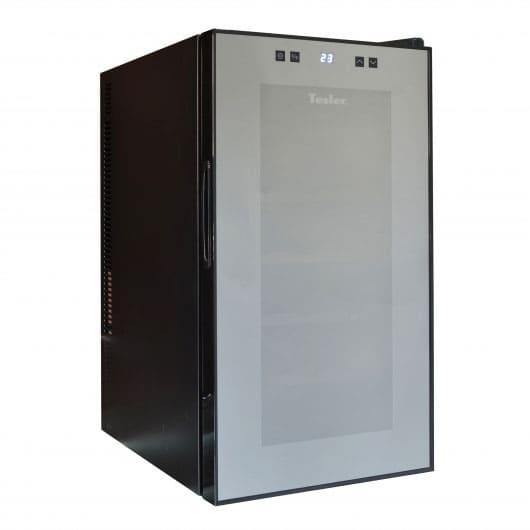 Винный холодильник в аренду Tesler на 18 бутылок, температурный режим +12C до +18C, электронное управление, для красных вин