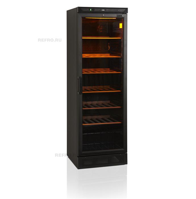 Винный шкаф в аренду Tefcold 350 л, режим +6 +18 градусов, черный
