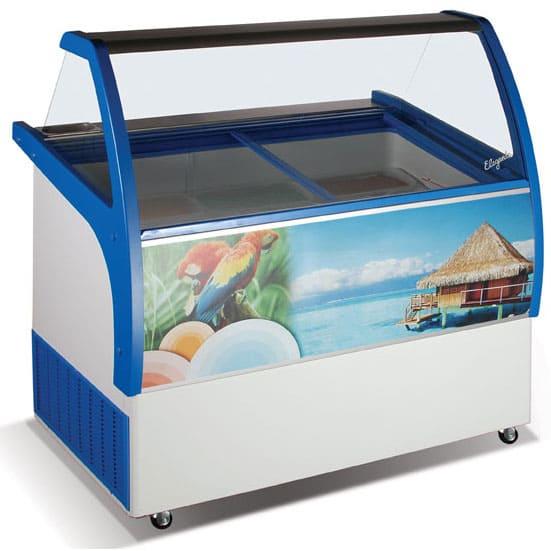 Холодильная витрина для мягкого мороженого в аренду Crystal 36, режим -15...-22, лотков 36x15.5 см 9 шт, либо нержавейка 8 шт, есть запасник
