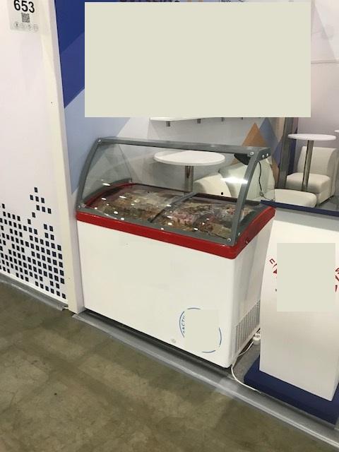 Аренда витрины для мороженого 400 л Smade, низкотемпературный режим от -18...-20C, для развесного и пакетированного мороженного