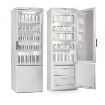 Аренда холодильника 350 л Pozis, двухкамерный, холодильное отделение 294 л, морозильное отделение 54 л, стеклянная дверь