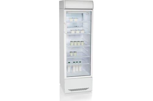 Аренда холодильника 300 л Бирюса, среднетемпературный режим от +1...+10C градусов, с рекламной панелью, белый, высота 1810 мм