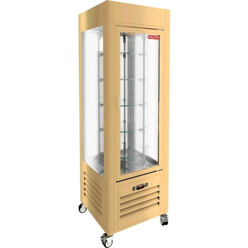 Аренда холодильника шкафа витрины Hicold R, режим +2...+10, крутящиеся полки