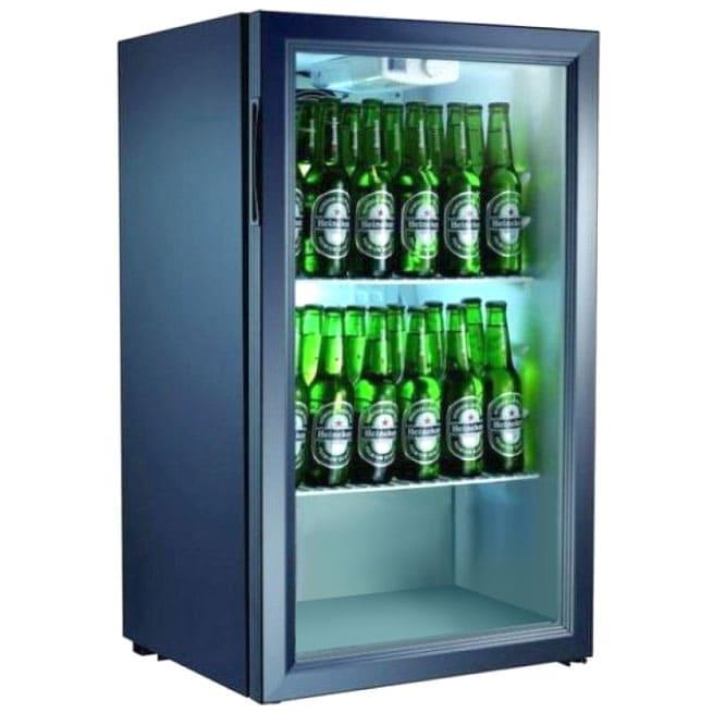 Холодильник барный в аренду 100 литровый, с подсветкой, температурный диапазон +1...+10 С.