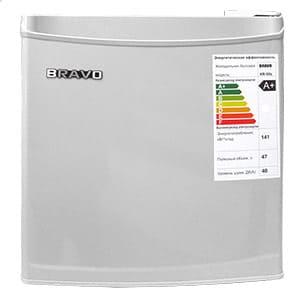 Барный холодильник в аренду 50 л Bravo, холодильное отделение 47 л, морозильная камера 3 л, цвет серебристый