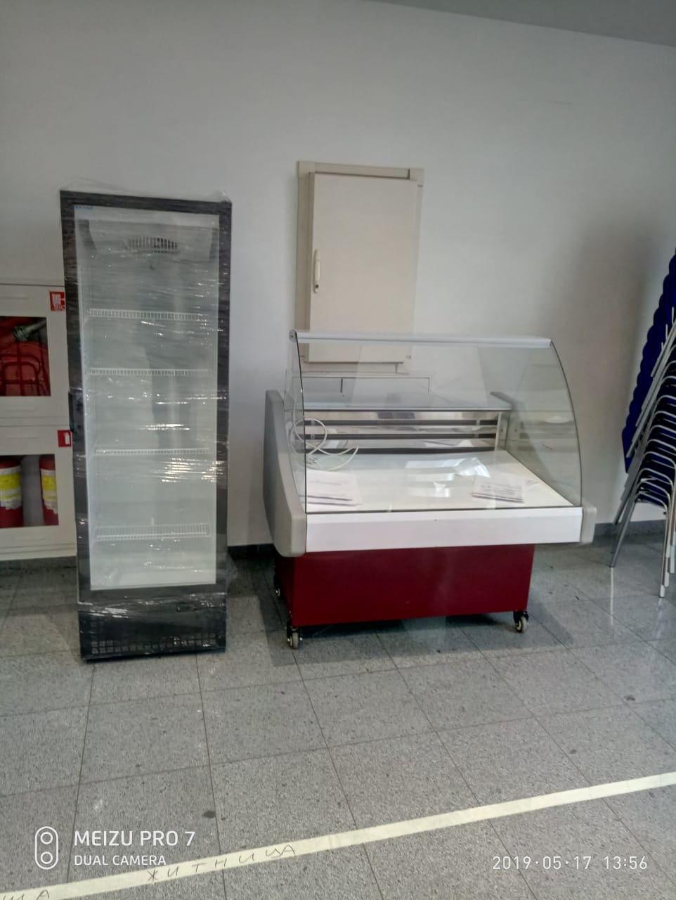 Холодильник 400 л и Витрина холодильная Арктика 1210 мм