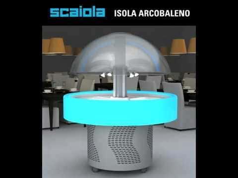 Холодильная витрина Scaiola купольная в аренду VIP с LED корпусом, температурный режим от +3...+10C градусов