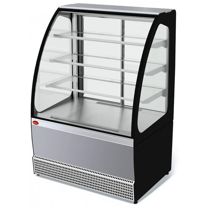 Холодильная витрина в аренду Veneto 950 нержавейка, среднетемпературный режим от 0...+7C, без запасника