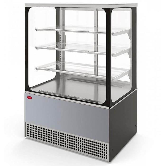 Холодильная витрина в аренду Veneto 950 Cube нержавейка, среднетемпературный режим от 0…+7C, без запасника
