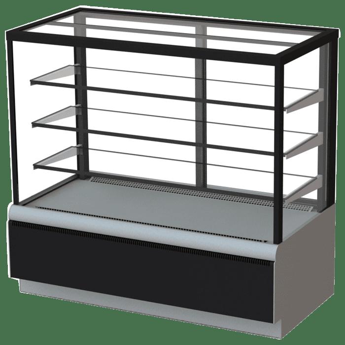Холодильная витрина в аренду Техно 1300 Люкс Куб, среднетемпературный режим от 0...+7C, без запасника