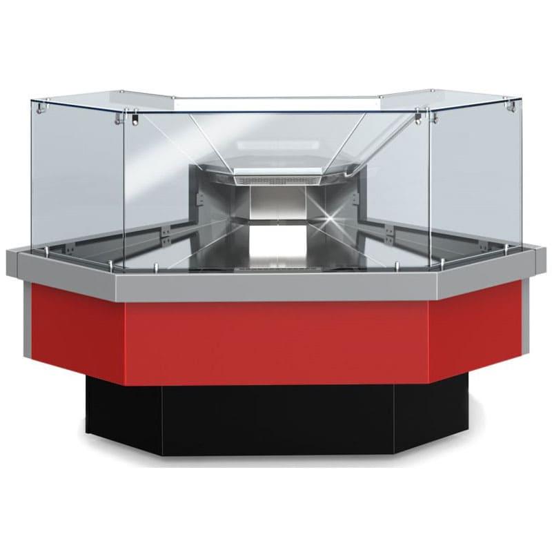 Угловая холодильная витрина в аренду Golfstream cube 1840 мм, среднетемпературный режим от 0...+7C, для выставки и магазина