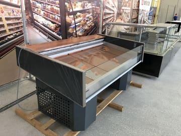 Витрина открытая холодильная  в аренду для рыбы, мяса, фруктов Ариада Бьянка ВУ17Р 1165 мм, режим -3...+3