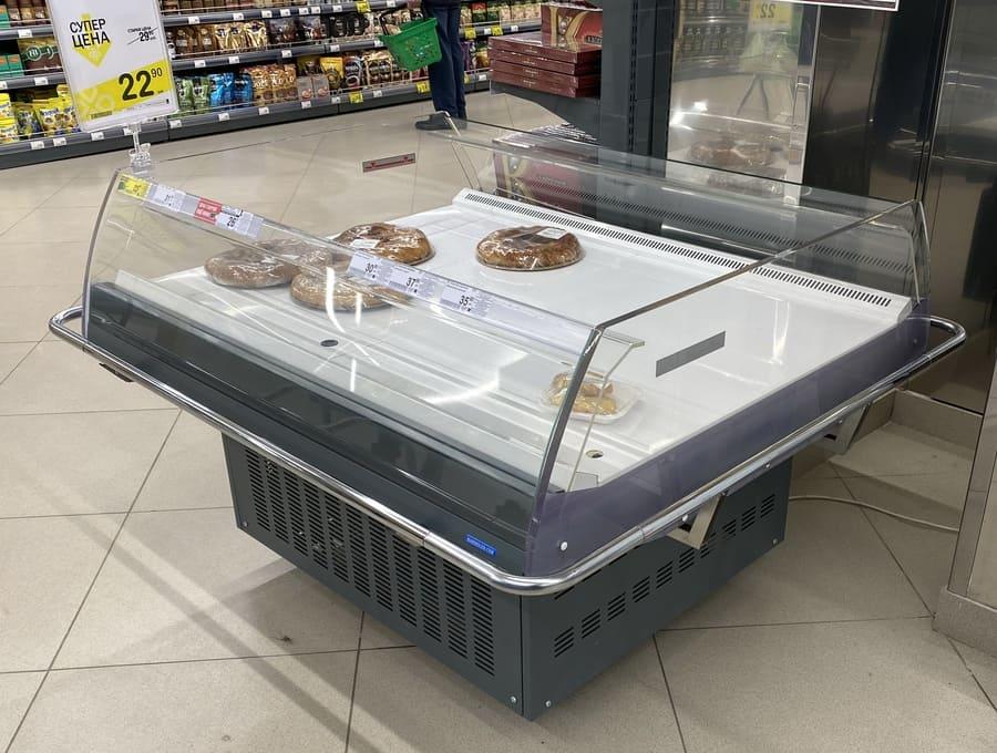 Витрина холодильная островная в аренду Промо ВХСо-1,25, режим +1…+10 градусов