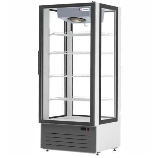 Кондитерская витрина в аренду 750 л Optiline обзорная, среднетемпературный режим от +2..+10C, высота 1965 мм