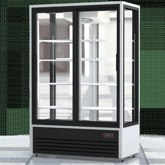 Кондитерская витрина в аренду 1120 л Премьер PR обзорная, среднетемпературный режим от 1…+10C, двери купе