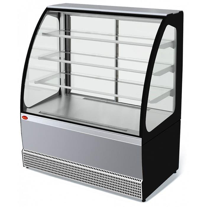 Кондитерская витрина в аренду Veneto 1305 нержавейка, среднетемпературный режим от 0...+7C, без запасника