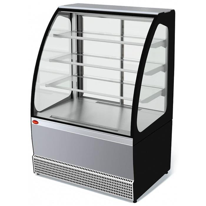 Кондитерская витрина в аренду Veneto 950 нержавейка, среднетемпературный режим от 0...+7C, без запасника