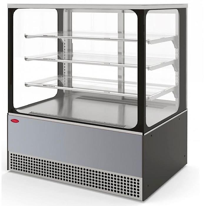 Кондитерская витрина в аренду Veneto 1305 Cube нержавейка, среднетемпературный режим от 0…+7C, без запасника