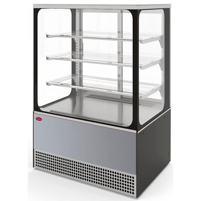 Кондитерская витрина в аренду Veneto 950 Cube нержавейка, среднетемпературный режим от 0…+7C, без запасника